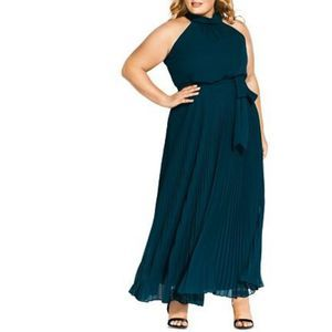 NEW City Chic Honour Pleated Maxi Dress 14